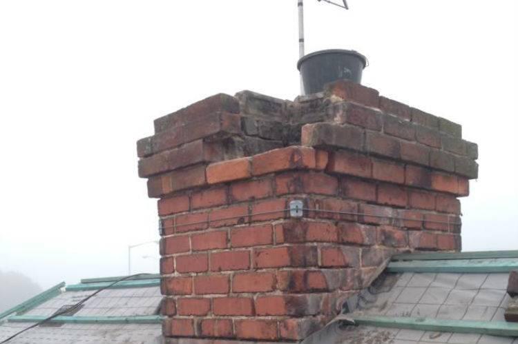 broken chimney