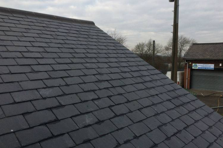 slate roof finished