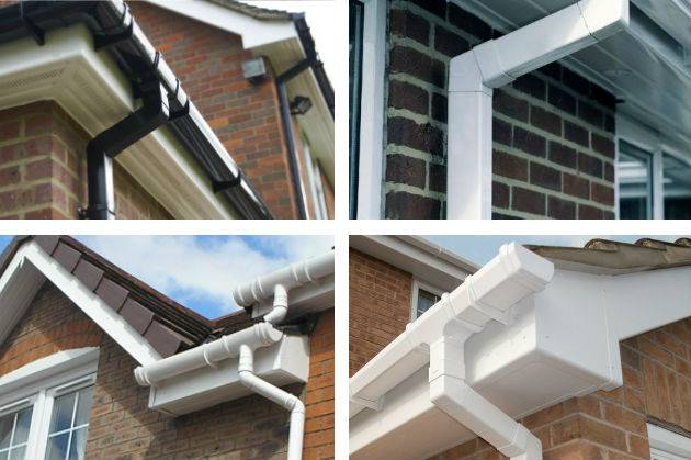 white and black guttering