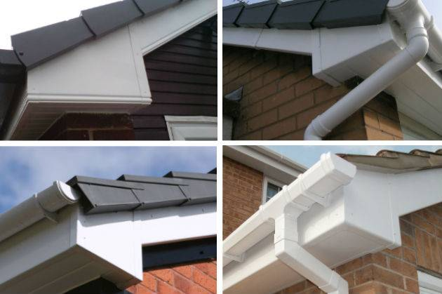 guttering on houses